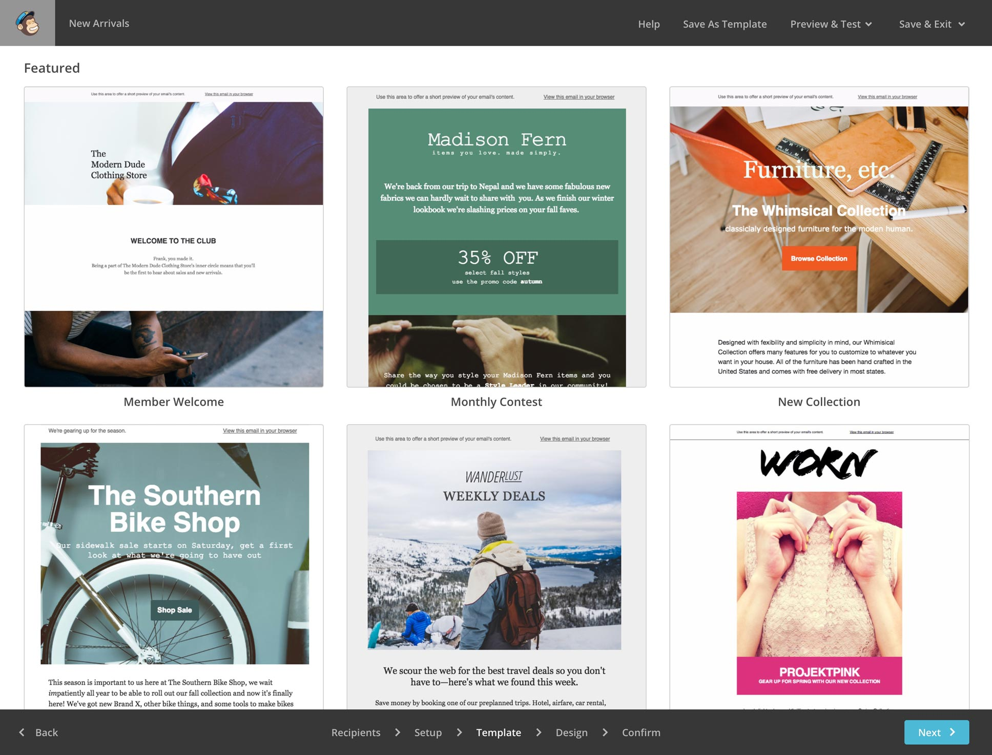 mailchimp ecommerce templates - e mail marketing sam helpt